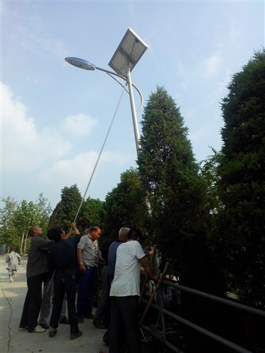 登封少林寺罗汉院6米太阳能安装现场